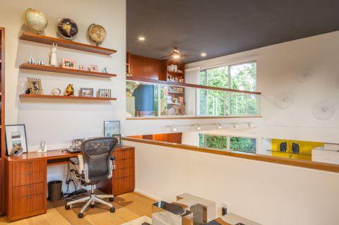 书房书桌现代风格装潢效果图