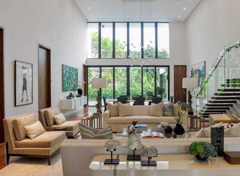 自然写意现代风格客厅装修效果图_土拨鼠2017装修图片大全