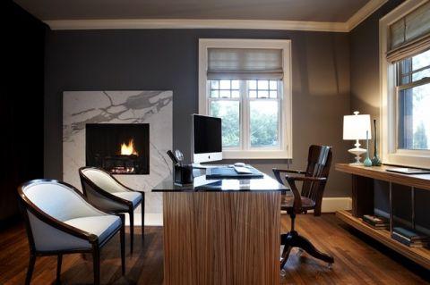 书房书桌现代风格装饰图片