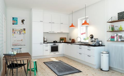 时尚创意现代风格厨房装修效果图_土拨鼠2017装修图片大全