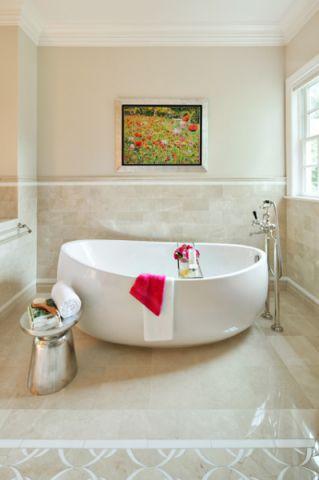干净舒适现代风格浴室装修效果图_土拨鼠2017装修图片大全
