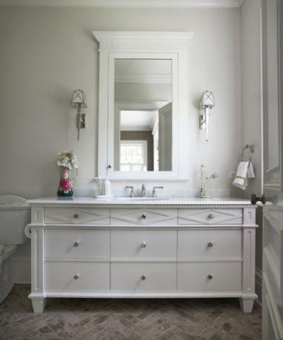 浪漫迷人美式风格卫生间装修效果图