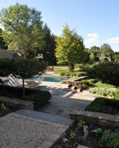 花园地砖美式风格装饰设计图片