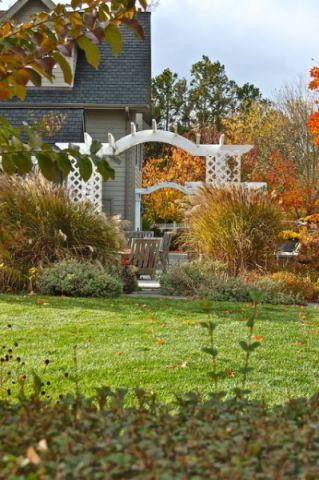 花园外墙美式风格装饰设计图片