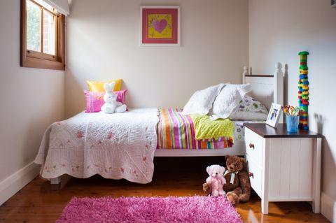 儿童房床美式风格装潢效果图
