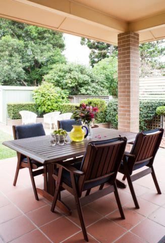 阳台餐桌美式风格装修图片