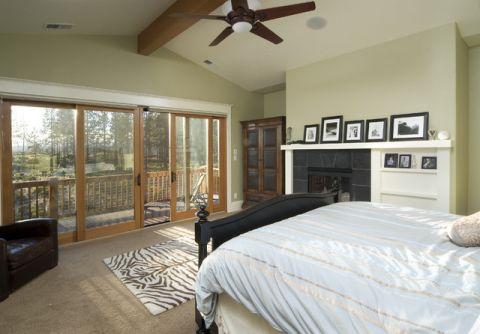 卧室细节美式风格装潢效果图