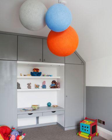 儿童房衣柜美式风格装潢效果图