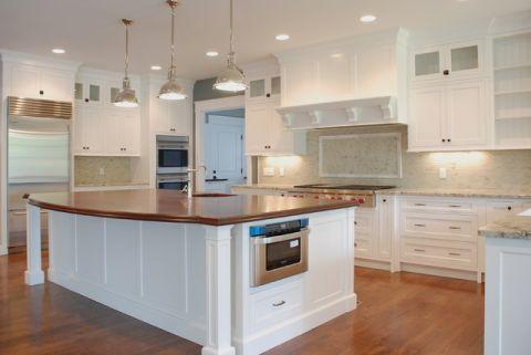 厨房白色厨房岛台美式风格装潢图片