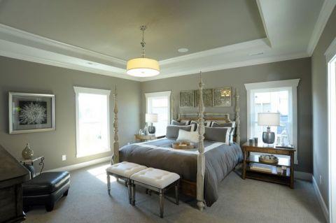 卧室床美式风格装修图片