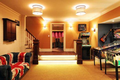 精致美式风格地下室装修效果图