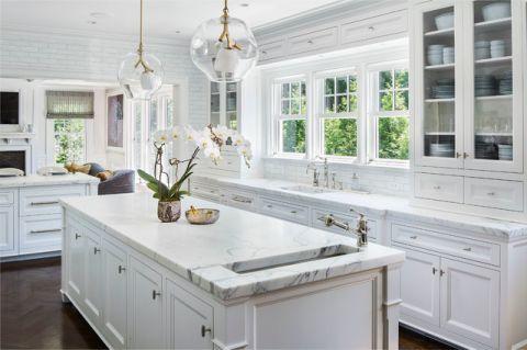 自然写意美式风格厨房装修效果图_土拨鼠2017装修图片大全