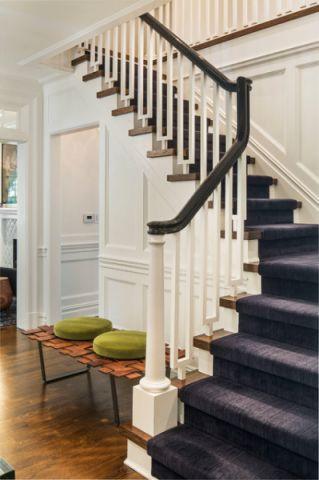玄关楼梯美式风格装修设计图片