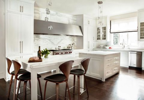 厨房餐桌美式风格装修设计图片