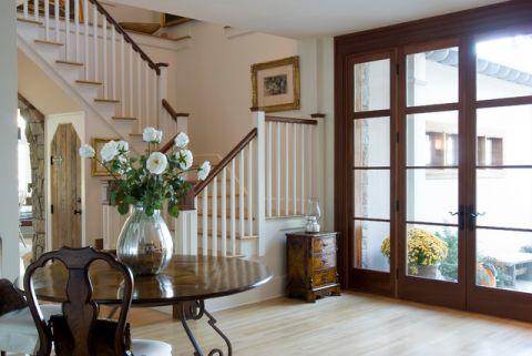 玄关推拉门美式风格装潢图片