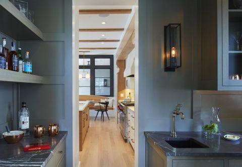厨房走廊美式风格装潢设计图片