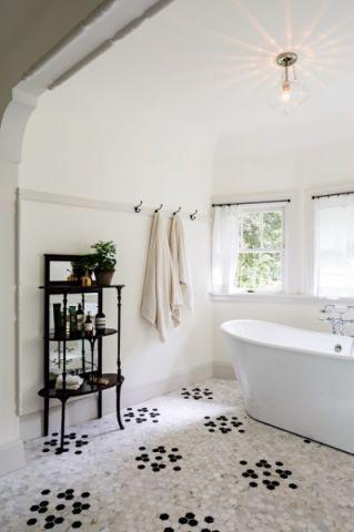 浴室细节简欧风格装潢图片