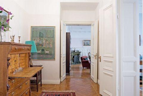 客厅推拉门简欧风格装修图片