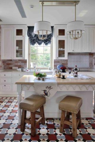 厨房吧台简欧风格装潢图片