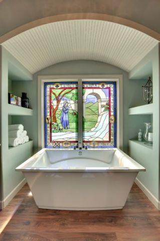 浴室窗台简欧风格装修图片