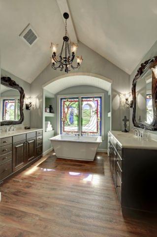 干净舒适简欧风格浴室装修效果图_土拨鼠2017装修图片大全