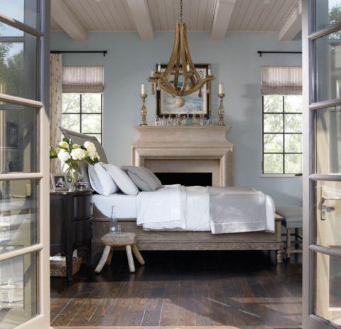 卧室床简欧风格装饰设计图片