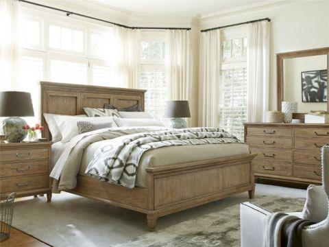 卧室床简欧风格装潢效果图