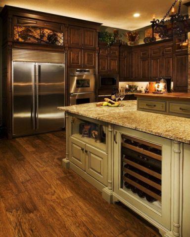 厨房灰色厨房岛台简欧风格装修效果图