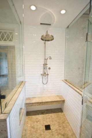 浴室背景墙简欧风格装饰图片