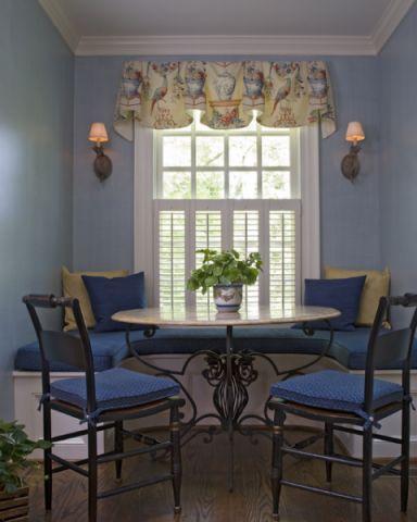 餐厅飘窗简欧风格装潢效果图