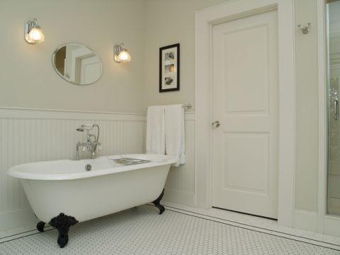 浴室浴缸简欧风格装饰图片