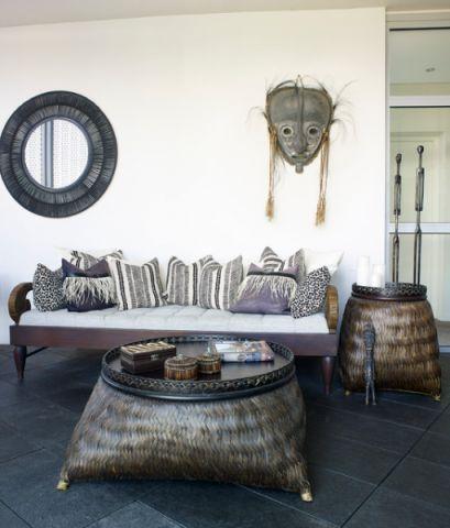 阳台灰色沙发混搭风格装潢效果图