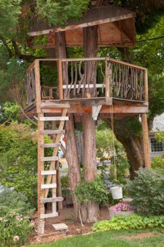 花园咖啡色细节混搭风格装潢设计图片