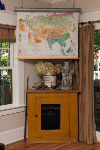 客厅黄色细节混搭风格装饰图片