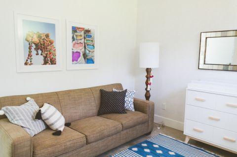 儿童房白色照片墙混搭风格装修设计图片