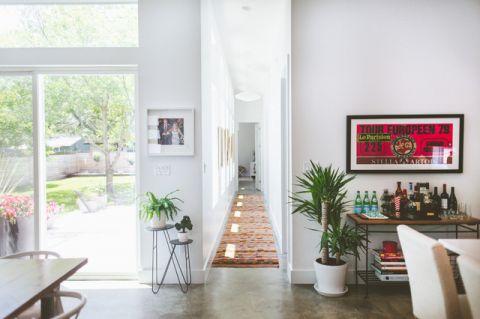 白色走廊混搭风格装饰效果图