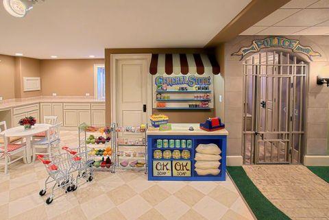 米色地下室混搭风格装修设计图片