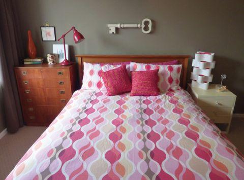 卧室粉色细节混搭风格装潢设计图片