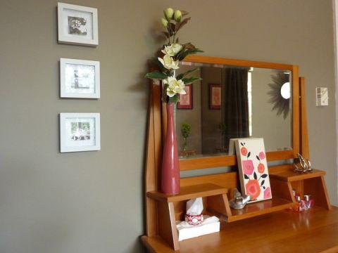卧室橙色细节混搭风格装潢图片