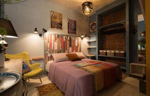 卧室彩色细节混搭风格装修设计图片