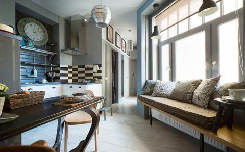 卧室灰色飘窗混搭风格装修效果图