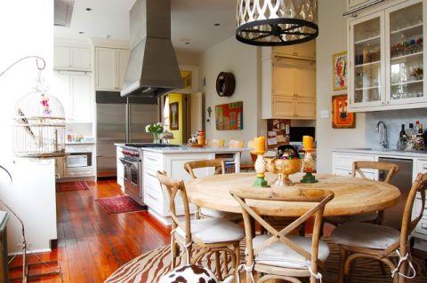 厨房咖啡色细节混搭风格装修设计图片