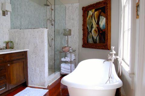 浴室白色细节混搭风格装修图片