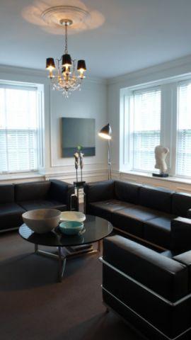 客厅黑色细节混搭风格效果图