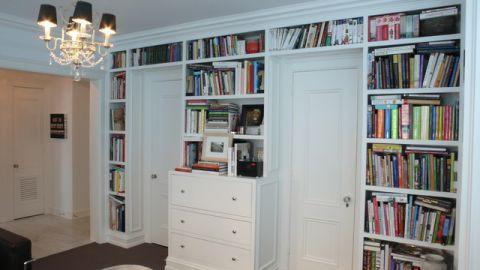 书房白色细节混搭风格装潢效果图