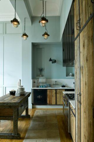 厨房绿色背景墙混搭风格装饰图片