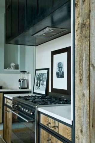 厨房黑色细节混搭风格装饰设计图片