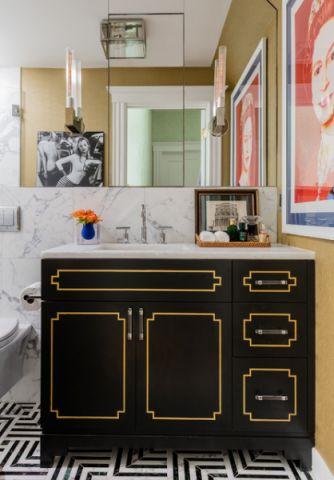 卫生间黑色细节混搭风格装饰设计图片