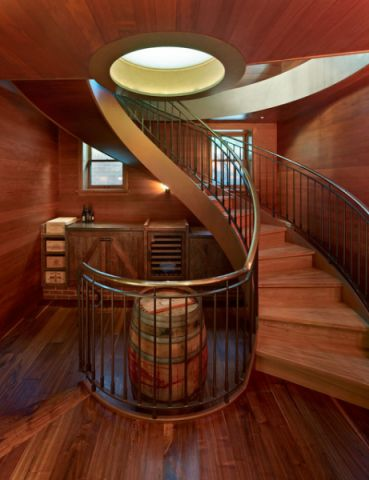 红色楼梯混搭风格装饰设计图片