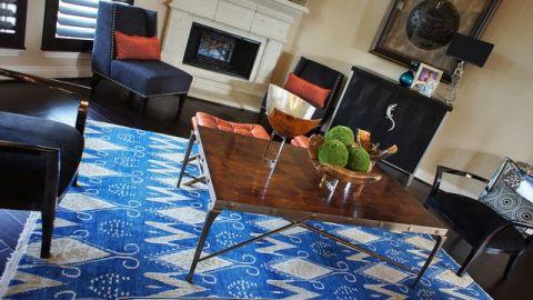 客厅咖啡色茶几混搭风格装修图片